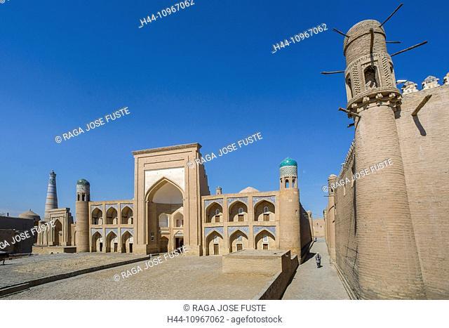 world heritage, Allakouli Khan, Khiva, Khorezm, Region, Medrasah, Uzbekistan, Central Asia, Asia, architecture, city, colourful, history, medresa, madrasa
