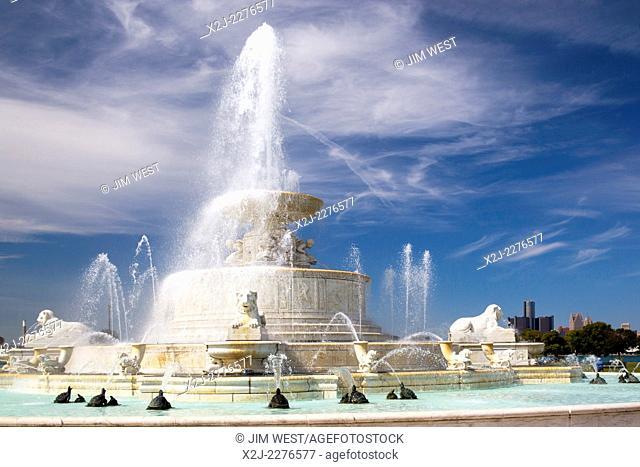 Detroit, Michigan - The James Scott Memorial Fountain on Belle Isle
