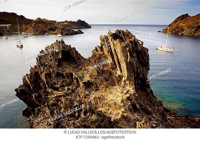 Culip cove  Cap de Creus Natural Park  Landscape that inspired some of Dalí's paintings Costa Brava  Girona province  Catalonia  Spain