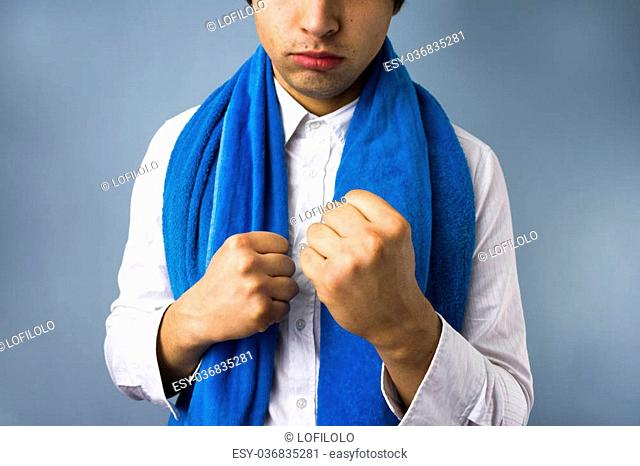 Businessman ready for a fight