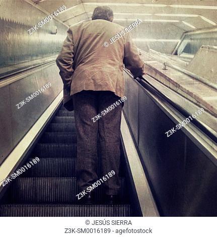 People in Metro, Madrid, Spain
