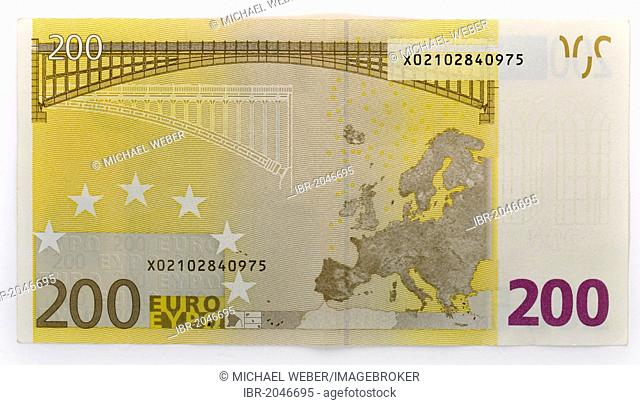 200-euro banknote, back