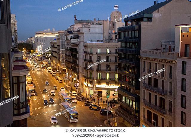 Ronda Universitat, Barcelona, Catalunya, Spain