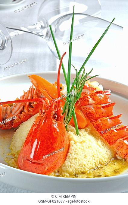 Amreican lobster couscous