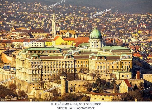 Buda Castle Hill from the Citadel. Budapest Hungary, Southeast Europe