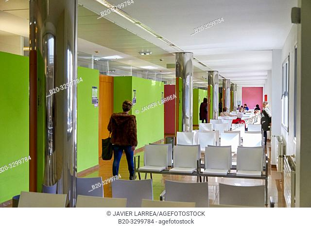 Waiting room, Health Center Building, Zarautz, Gipuzkoa, Basque Country, Spain