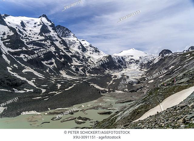 Grossglockner mountain and Pasterze glacier, High Tauern National Park, Carinthia, Austria