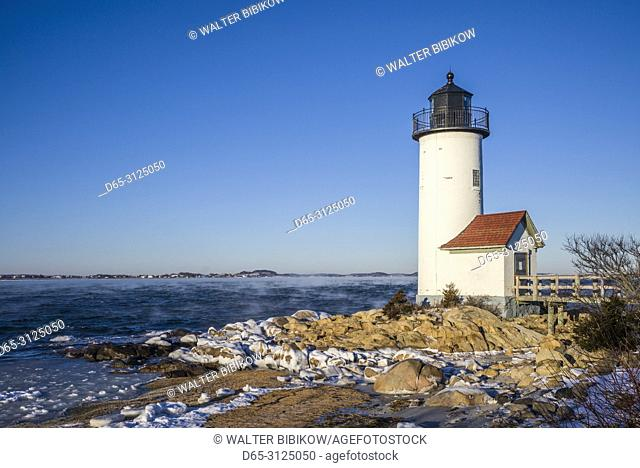 USA, New England, Cape Ann, Massachusetts, Annisquam, Annisquam Lighthouse, winter