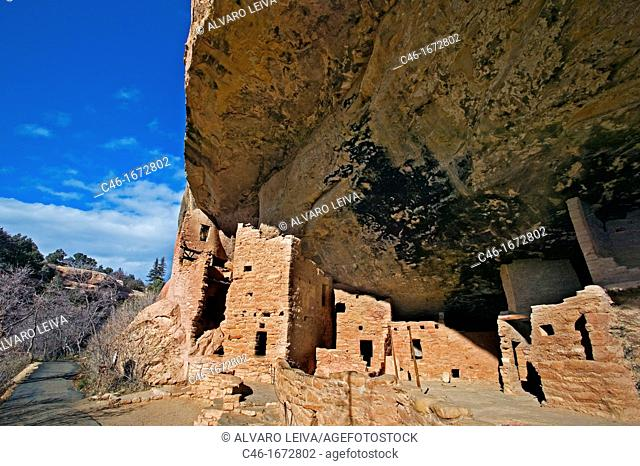 Spruce Tree House ruins at Mesa Verde National Park, Colorado, USA