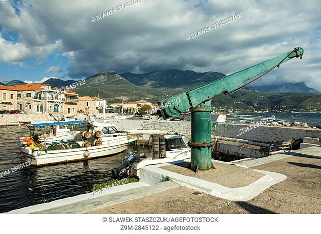 Spring afternoon in the fishing village of Agios Nikolaos, Messenia, Peloponnese, Greece