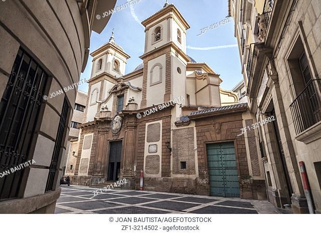 Religious building church temple of San Juan de Dios, baroque style,Murcia,Spain