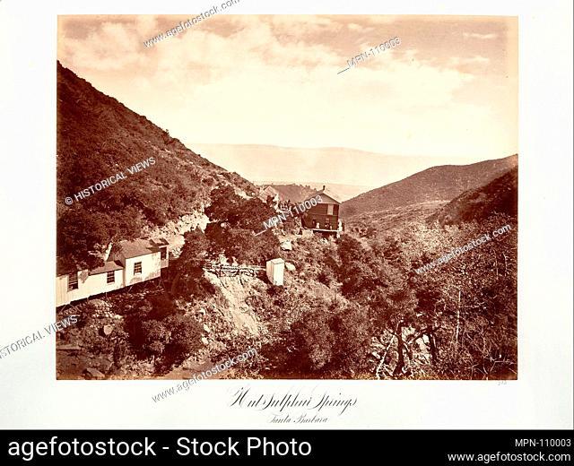Hot Sulphur Springs, Santa Barbara. Artist: Carleton E. Watkins (American, 1829-1916); Date: 1876, printed ca. 1876; Medium: Albumen silver print from glass...