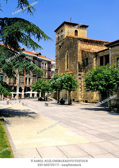 San Nicolas de Bari Church in Aviles, Asturias Region, Spain