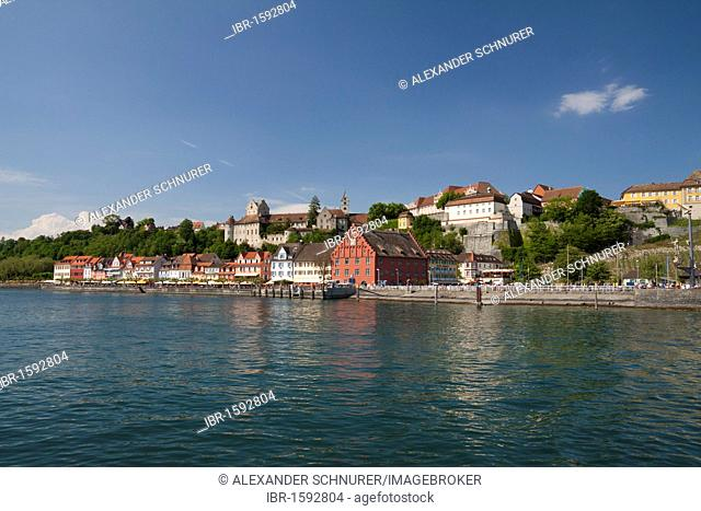 Historic old town of Meersburg on Lake Constance, Baden-Wuerttemberg, Germany, Europe