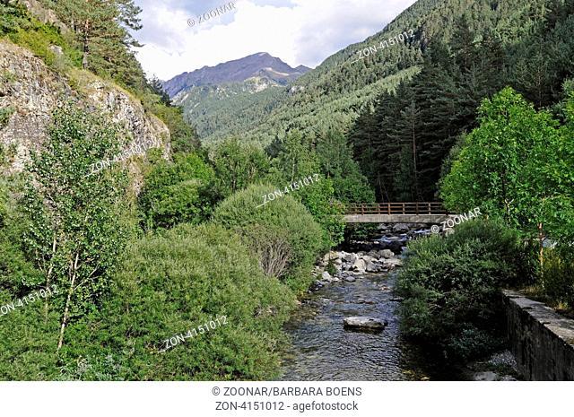 national park, Aigueestortes i Estany de Sant Maurici, Sant Nicolau valley, La Vall de Boi, Pyrenees, Lleida province, Catalonia, Spain, Europe, Nationalpark