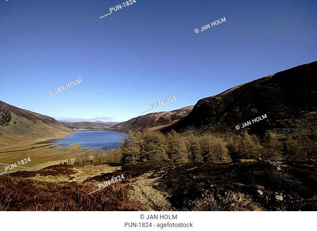 View of Loch Lee from hills