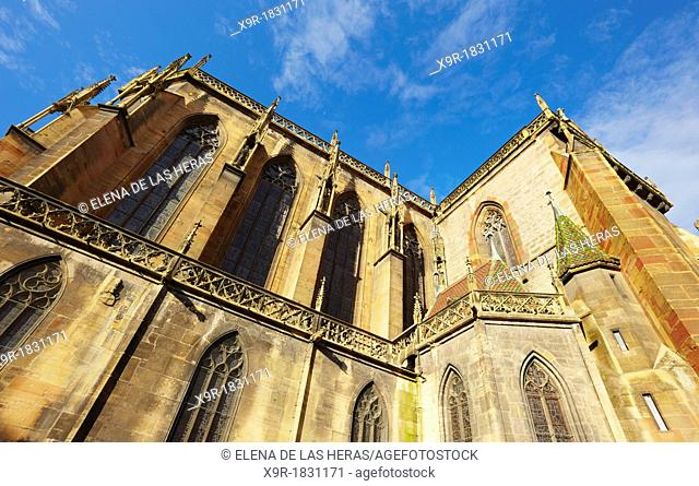 Saint Martin's collegiate church, Colmar, Alsace, France