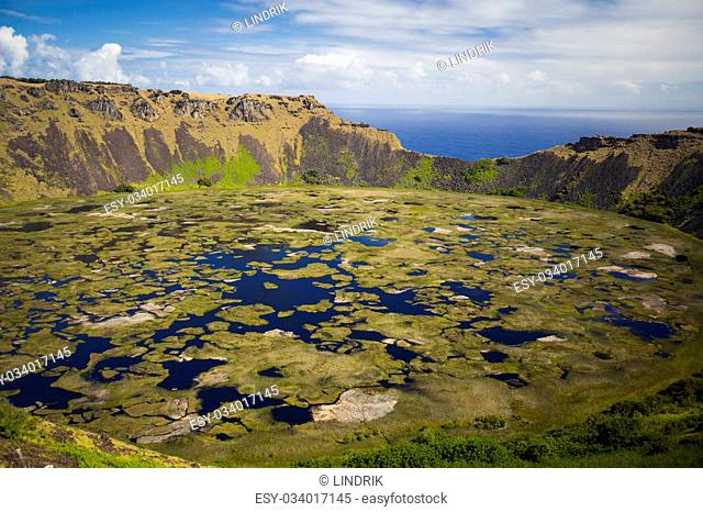 Rano Kau volcano, Easter island (Chile)