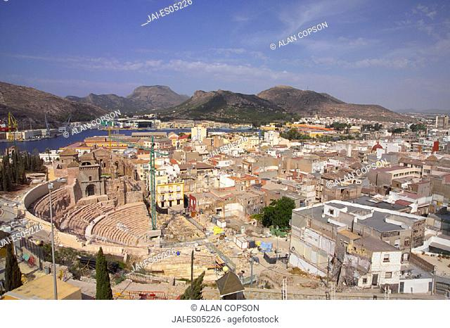 Roman Theatre, Cartagena, Murcia region, Spain