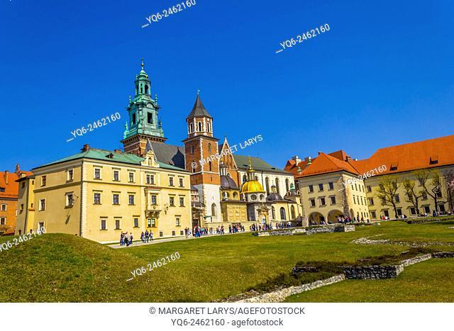 Royal Wawel Castle in Krakow, Poland, Europe