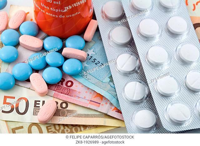 Concept of medicine, copayment for medicines, Spain