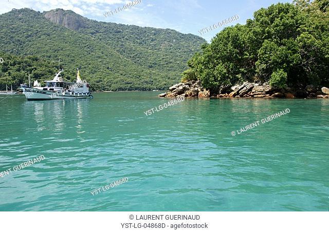 Landscape, Boat, Ilha Grande, Rio de Janeiro, Brazil