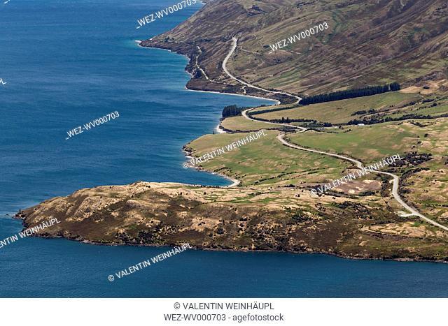 New Zealand, South Island, Queenstown-Lakes-Distrikt, Makarora, Wanaka, Lake Hawea, Sawyer Burn Track