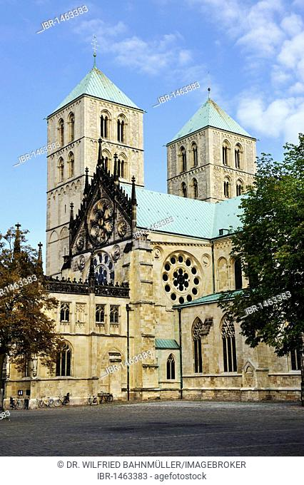 Saint Paul's Cathedral, Muenster, North Rhine-Westphalia, Germany, Europe