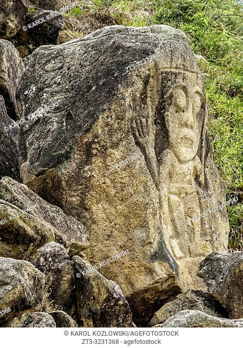 Pre-Columbian Sculpture, La Chaquira, San Agustin Archaeological Park, Huila Department, Colombia