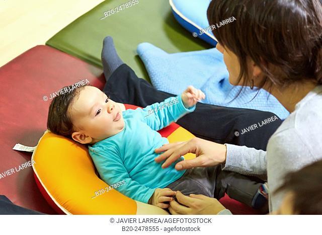 Mother and baby, breastfeeding education, Ambulatory Oiartzun, Gipuzkoa, Basque Country, Spain