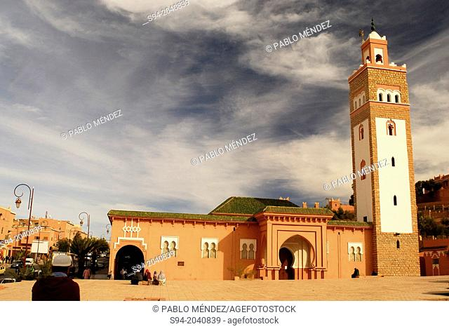 Mosque in the square of 3 of Mars in Ouarzazate, Morocco