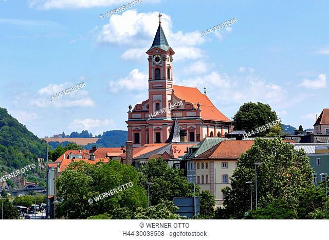 Deutschland, Bayern, Ostbayern, Niederbayern, Passau, Donau, Inn, Ilz, Stadtpfarrkirche St. Paul, katholische Kirche