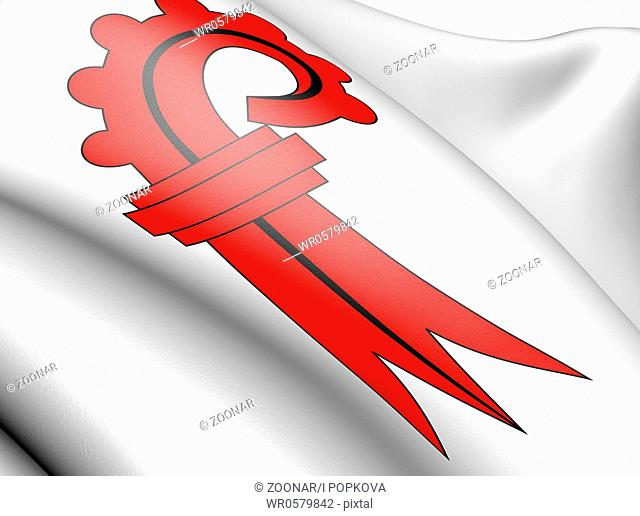 Flag of Basel. Close up