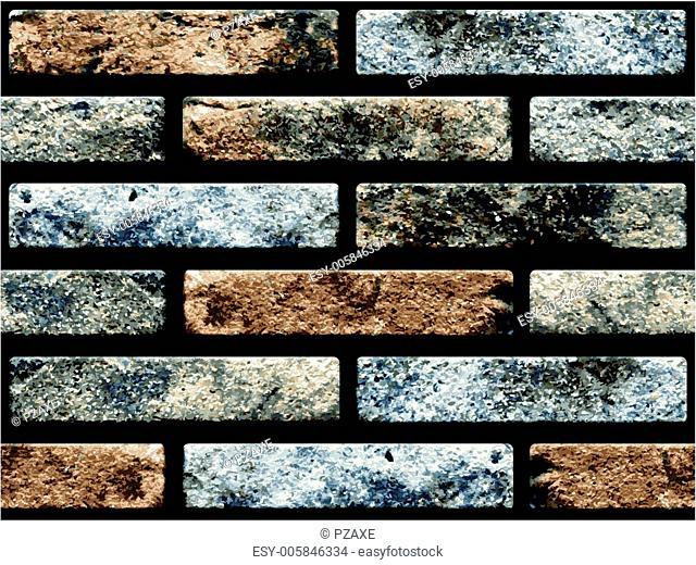 Naturalistic seamless texture - old brickwork