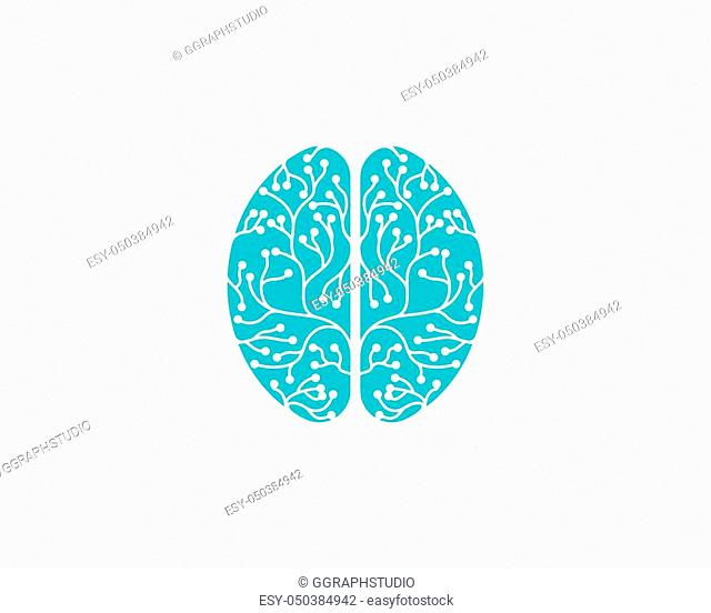 Health Brain vector illustration icon template design