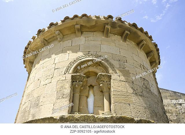Santa Maria de la Piscina romanesque church at San Vicente de la Sonsierra . La Rioja. Spain