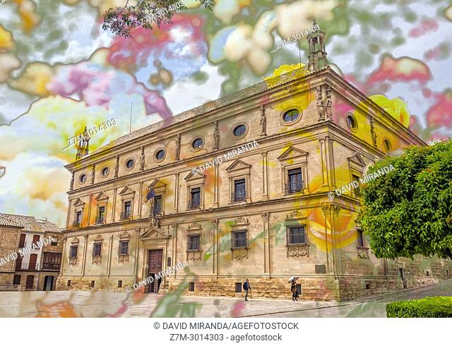 Palacio de las Cadenas or Palacio de Vázquez Molina. Town Hall of Ubeda. Jaen. Andalusia. Spain