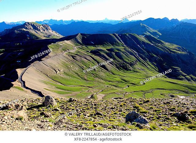 The Col de la Bonette (2810m), Alpes-Maritimes, Mercantour national park, Provence-Alpes-Côte d'Azur, France