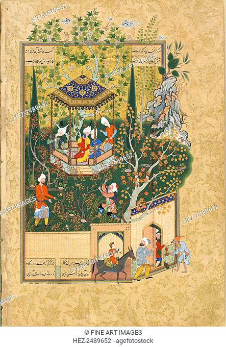 Folio from Haft Awrang (Seven Thrones), by Jami, 1550s. Jami (1414-1492) was one of the last Sufi poets and one of the greatest of all Persian poets