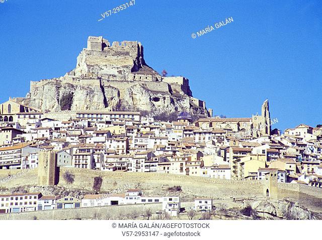 Overview. Morella, Castellon province, Comunidad Valenciana, Spain