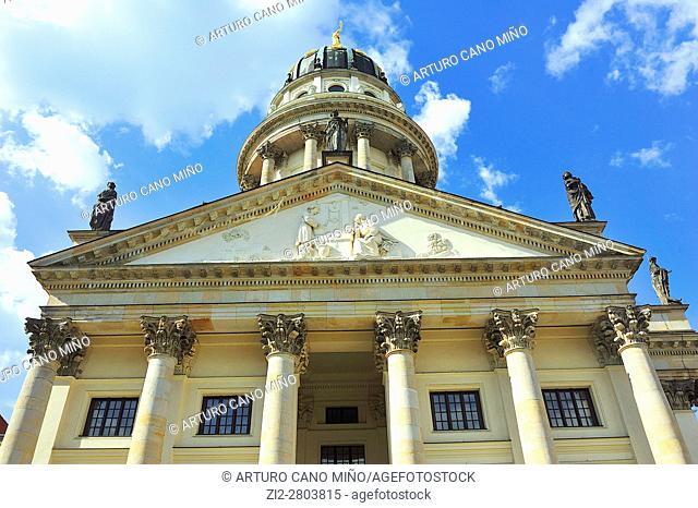 The Französischer Dom -French Church-, XVIIIth century, at the Gendarmenmarkt. Berlin, Germany