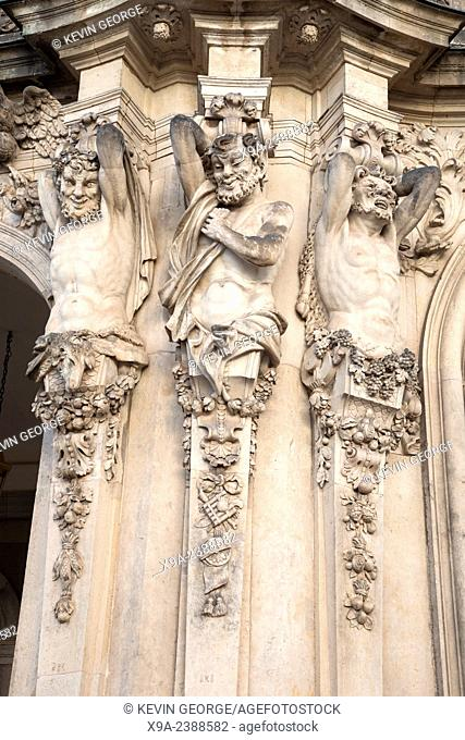 Sculptures of the Zwinger, Dresden, Saxony, Germany