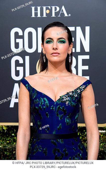 Camila Belle attends the 76th Annual Golden Globe Awards at the Beverly Hilton in Beverly Hills, CA on Sunday, January 6, 2019