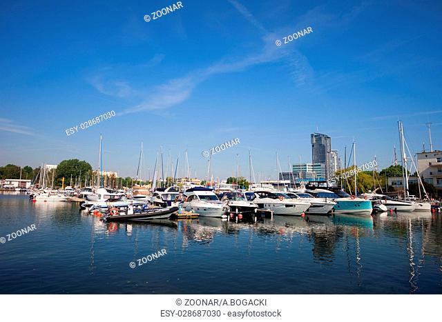 City of Gdynia Marina in Poland