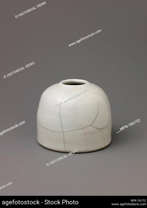 Water pot. Date: probably 19th century; Culture: Chinese; Medium: Porcelain with white glaze; Dimensions: Height: 3 3/4 in (9.5 cm