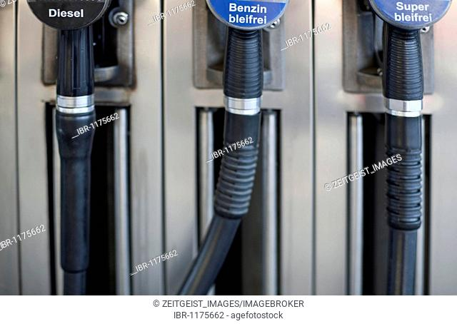 Gas pump at a petrol station