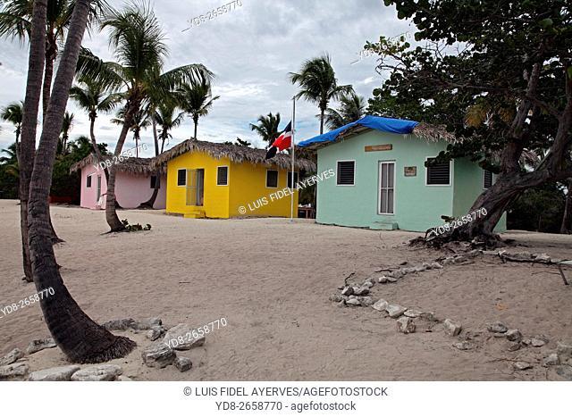 Typical houses in Grand Turk, Turks islands, British Overseas Territory, Caribbean