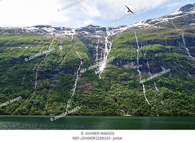 Scenic waterfalls