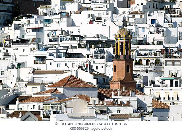 Church, Competa. Axarquia, Costa del Sol, Andalusia, Spain