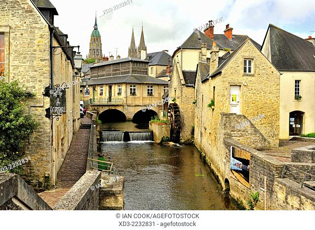 L'Aure River, Bayeux, Calvados Department, Normandy, France